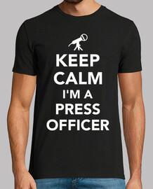 mantén la calma soy un oficial de prensa