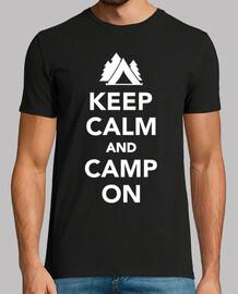 mantén la calma y acampa en
