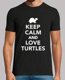 mantén la calma y ama a la tortuga