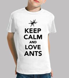 mantén la calma y ama a las hormigas
