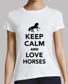 mantén la calma y ama a los caballos