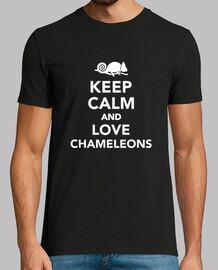 mantén la calma y ama a los camaleones