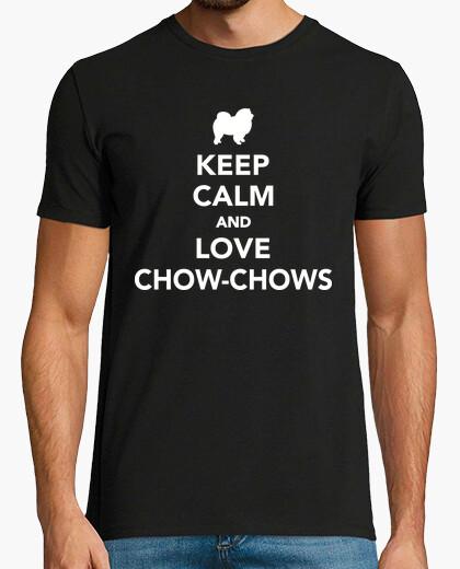 Camiseta mantén la calma y ama a los chow-chows