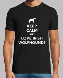 mantén la calma y ama a los perros lobo