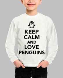 mantén la calma y ama a los pingüinos