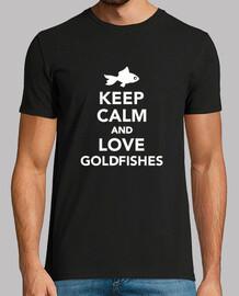 mantén la calma y ama los peces dorados