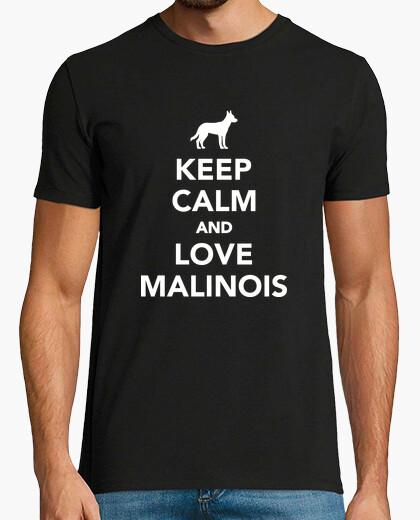 Camiseta mantén la calma y ama malinois