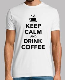 mantén la calma y bebe café