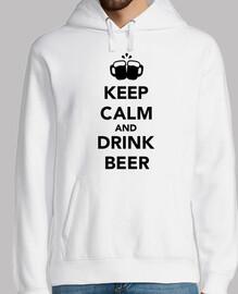 Manten la calma y bebe cerveza