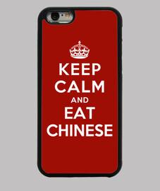 mantén la calma y come comida china