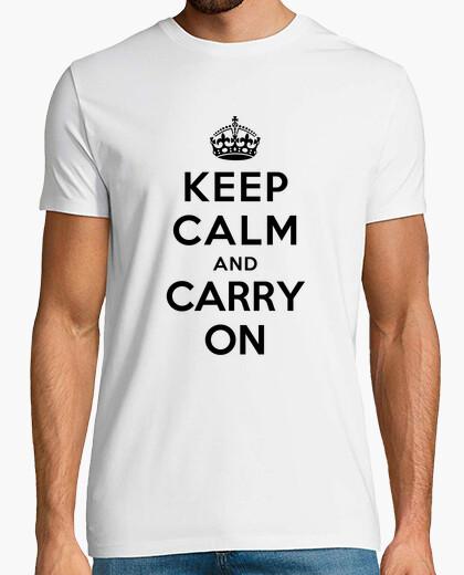 Camiseta mantén la calma y continúa