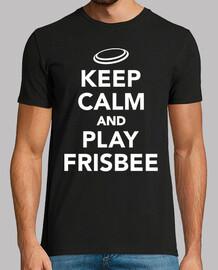mantén la calma y juega al frisbee