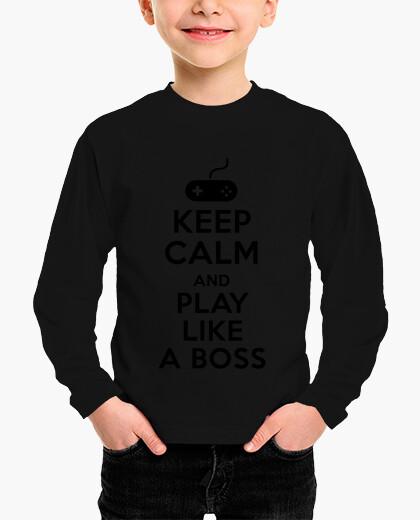 Ropa infantil mantén la calma y juega como un jefe