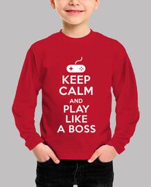 mantén la calma y juega como un jefe