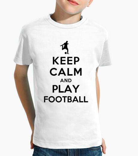 Ropa infantil Mantén la calma y juega fútbol