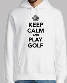 mantén la calma y juega golf