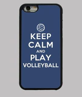 manten la calma y juega voleibol