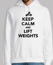 mantén la calma y levanta pesas