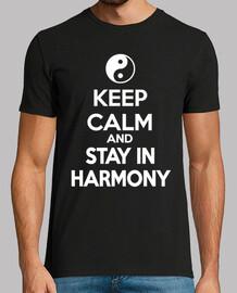 mantén la calma y mantente en armonía