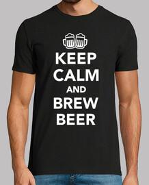 mantén la calma y prepara cerveza