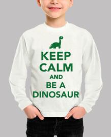mantén la calma y sé un dinosaurio