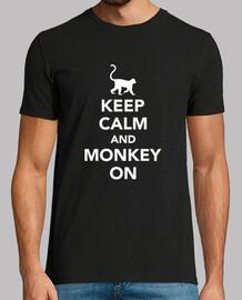 mantén la calma y sigue el mono