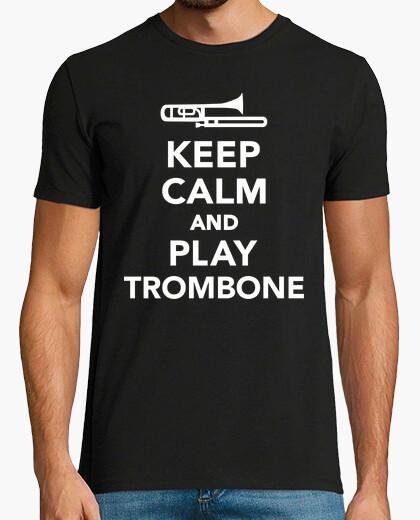 Camiseta mantén la calma y toca el trombón