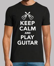 mantén la calma y toca la guitarra