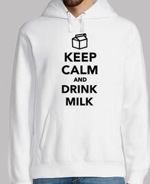 mantén la calma y toma leche