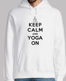 mantén la calma y yoga en