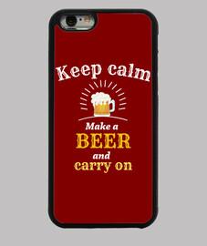 mantén la cerveza tranquila i-phone 6 / 6s
