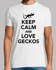 mantener geckos calma y ame