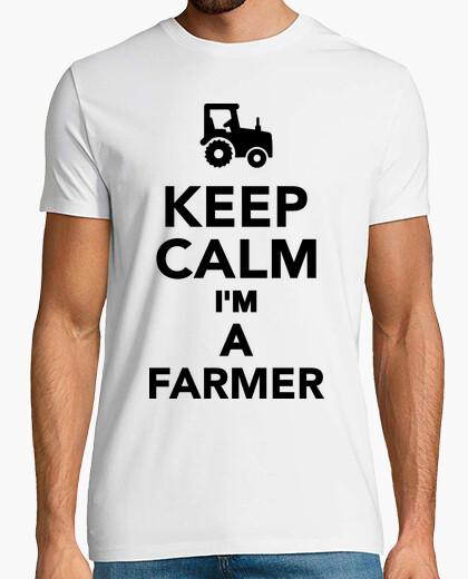 Camiseta mantener la calma im un agricultor