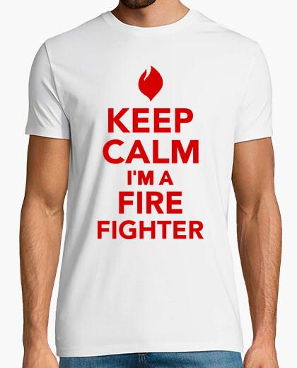 Camiseta mantener la calma im un bombero