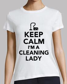 mantener la calma im una señora de la limpieza