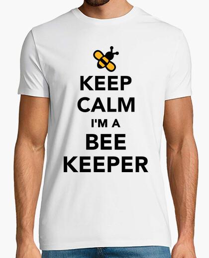 Camiseta mantener la calma que soy un apicultor