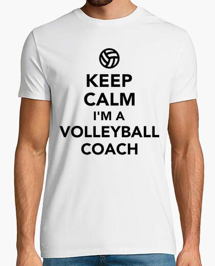 Camiseta mantener la calma que soy un entrenador de voleibol