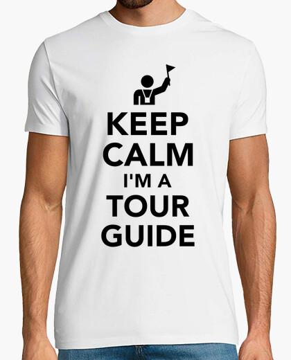 Camiseta mantener la calma que soy un guía turístico