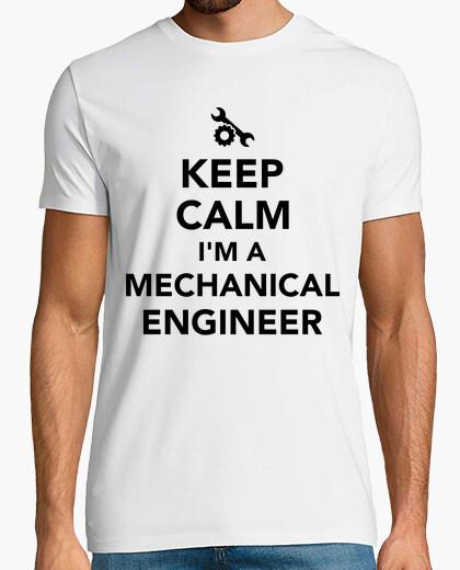 Camiseta mantener la calma que soy un ingeniero mecánico