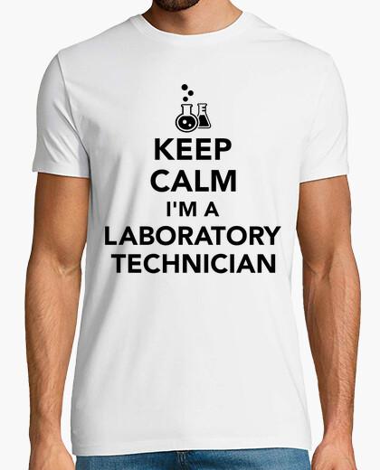 Camiseta mantener la calma que soy un técnico de laboratorio