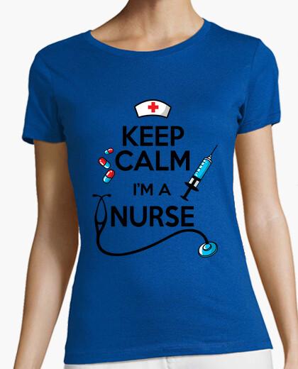 Camiseta mantener la calma soy enfermera