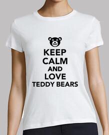 mantener la calma y ama osos de peluche