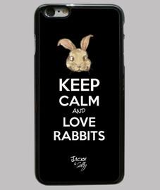 mantener la calma y ame conejos - cubrir iphone 6 plus