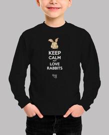mantener la calma y ame conejos en negr