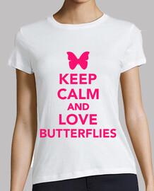 mantener la calma y ame las mariposas