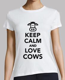 mantener la calma y ame las vacas