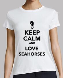 mantener la calma y ame los caballitos de mar