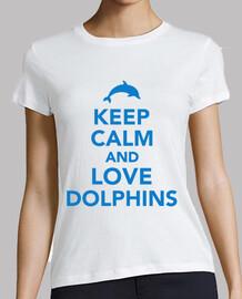 mantener la calma y ame los delfines