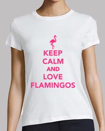 mantener la calma y ame los flamencos