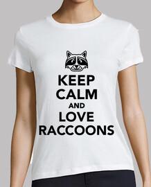 mantener la calma y ame los mapaches